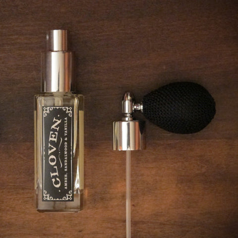 Cloven - Amber, Sandalwood, Vanilla and Cedar - Perfume Oil Spray
