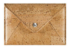 Cork Envelope Medium Wallet Light Brown