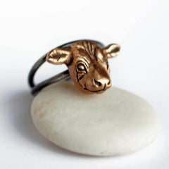 Cow Ring Bronze Adjustable