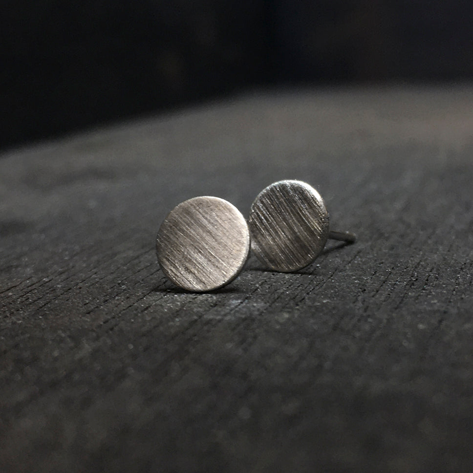 Circular Earrings Brass or Silver