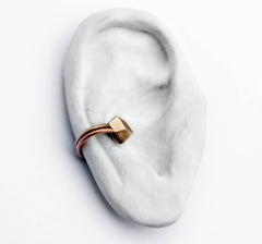 Facet Earcuff Bronze