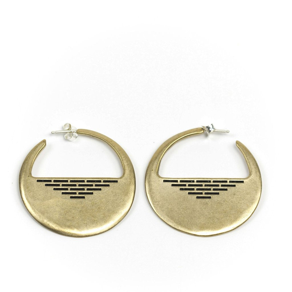 Portsmouth Hoop Earrings Bronze