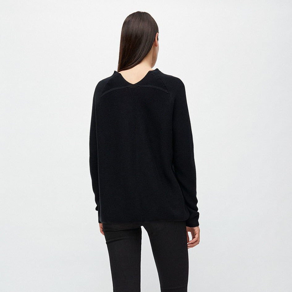 Faarina Brown Knitted Sweater in Organic Cotton