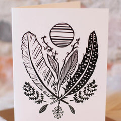 Feather & Leaf Card