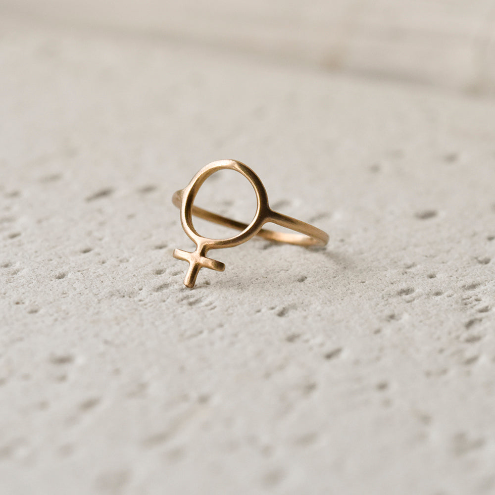 Ada Feminist Ring Bronze or Gold