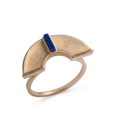 Forti Ring Bronze & Lapis Lazuli Fair Trade Stone