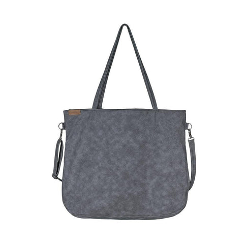 Grey Tote bag crossbody everyday vegan faux leather bag