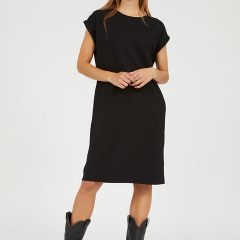 HAWAA Black Short Sleeve Dress in Lenzing Ecovero