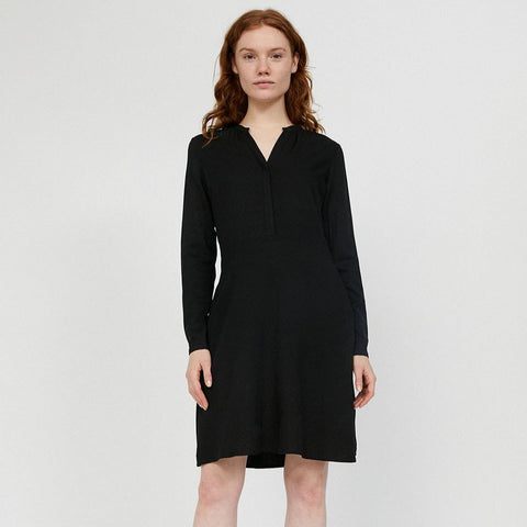 Inaari Black Long Sleeve Dress in Lenzing Ecovero