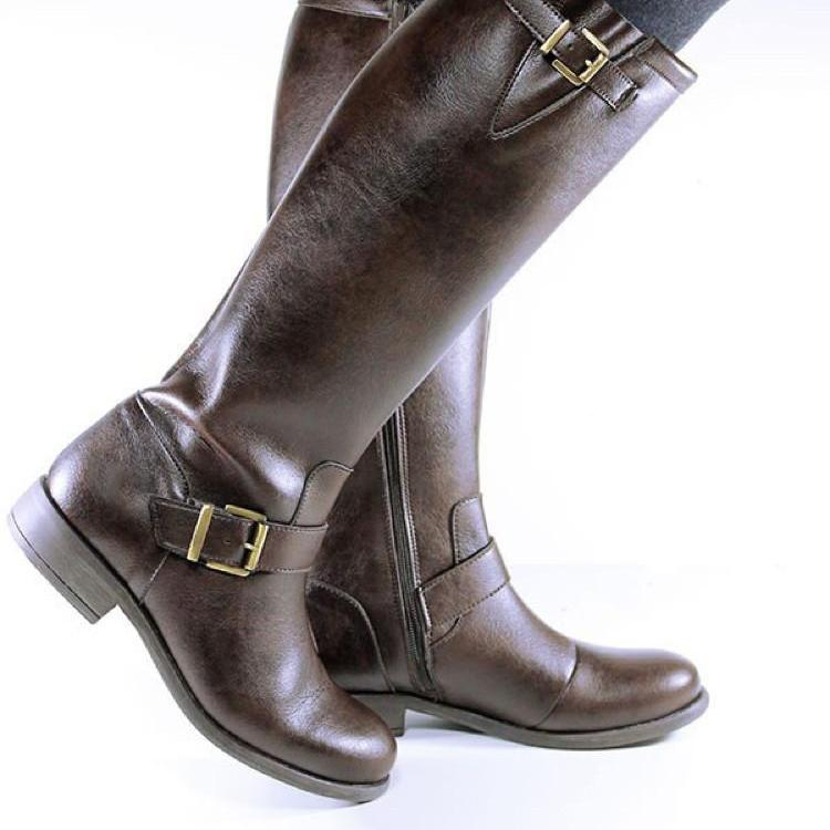 Knee Length Boots Vegan Plant Leather & Recycled Rubber - women's sizes