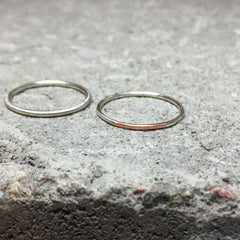 Loop Thin Ring Copper & Silver