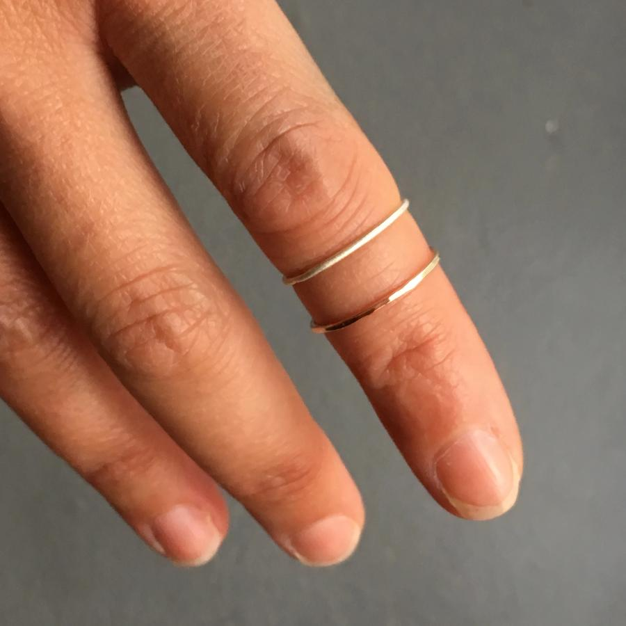 products silver ring in thin stockholm minimalist handmade loop smooth skinny hammered midi rings