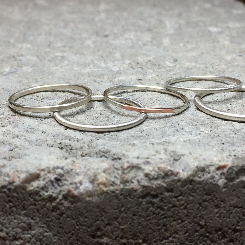 Loop Ring Copper & Silver