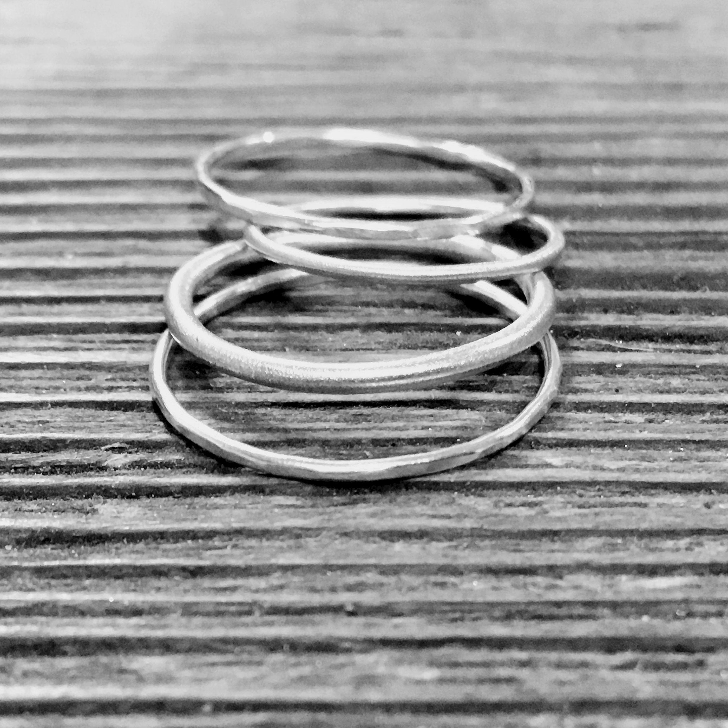 and stockholm products sweden wild handmade skinny arrow stacking in minimalist thin golden brass ring rings silver loop