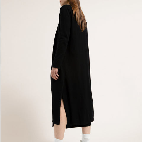 MARISSAA Black Cardigan in Tencel Lyocell