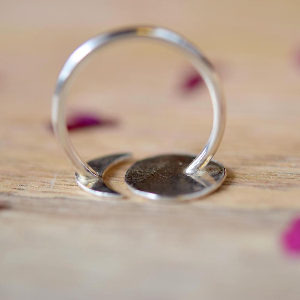 Moon Phase Ring Silver