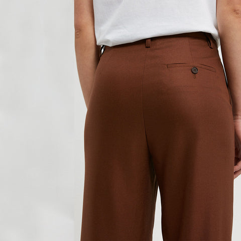 NAGISAA Trousers Brown TENCEL Lyocell Mix