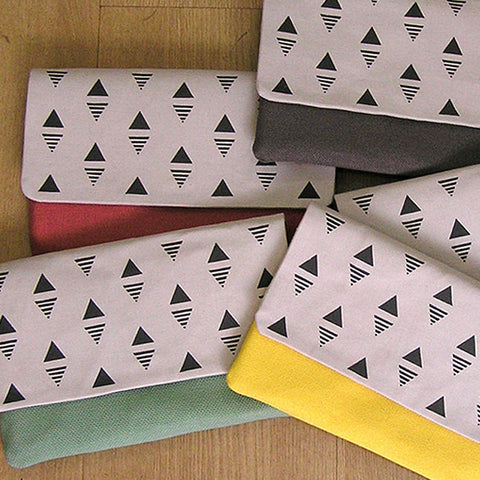 Cotton Clutch Hand Screen Printed