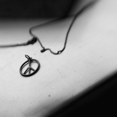 Peace Sign No.2 Necklace Silver