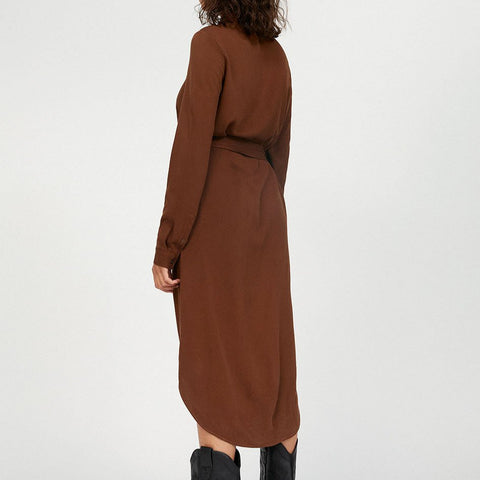 SAIGAA Brown Dress in LENZING™ ECOVERO™