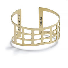 Selma Bridge Cuff Bracelet Brass