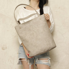 Shopper bag beige / grey blazed large vegan faux leather