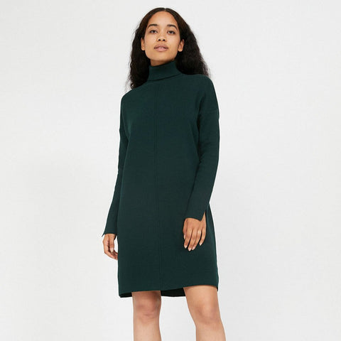 Siennaa Black Knitted Dress Organic Cotton