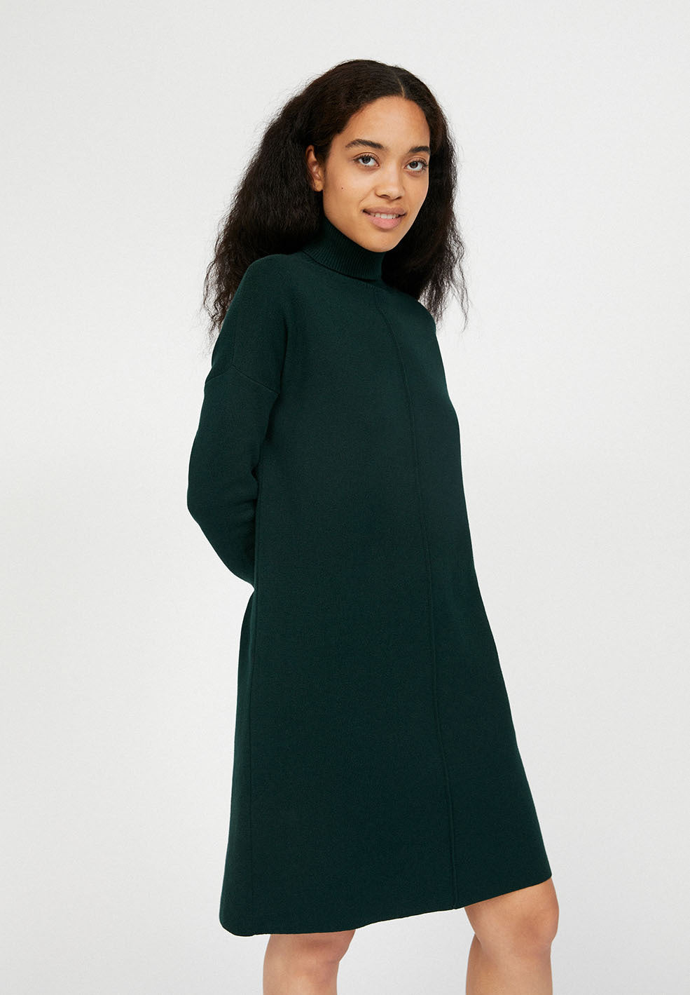 Siennaa Dark Green Knitted Dress Organic Cotton