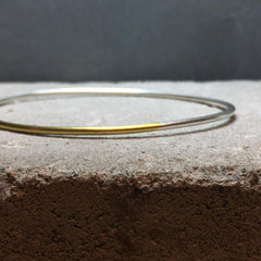 Loop Bangle Bracelet Silver & Brass / Copper