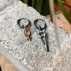 Taru Earring Silver or Bronze