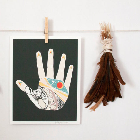 The Nothing Hand Art Print