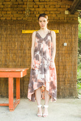 Tie Dye Flowy Sleeveless Dress