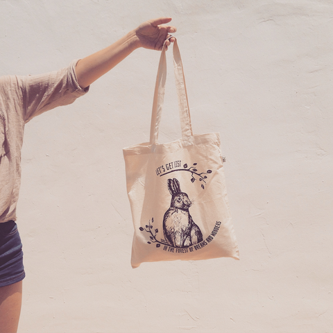 Tote bag The Young Hare - black or white