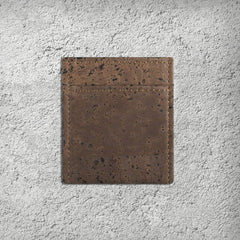 Cork Card Holder Mini Wallet Dark Brown