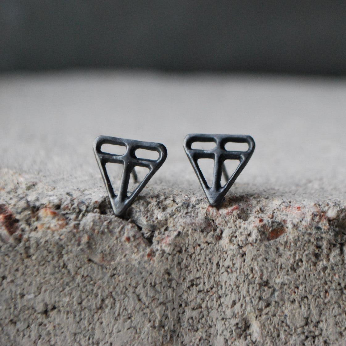 Tarina Earrings Oxidized Silver