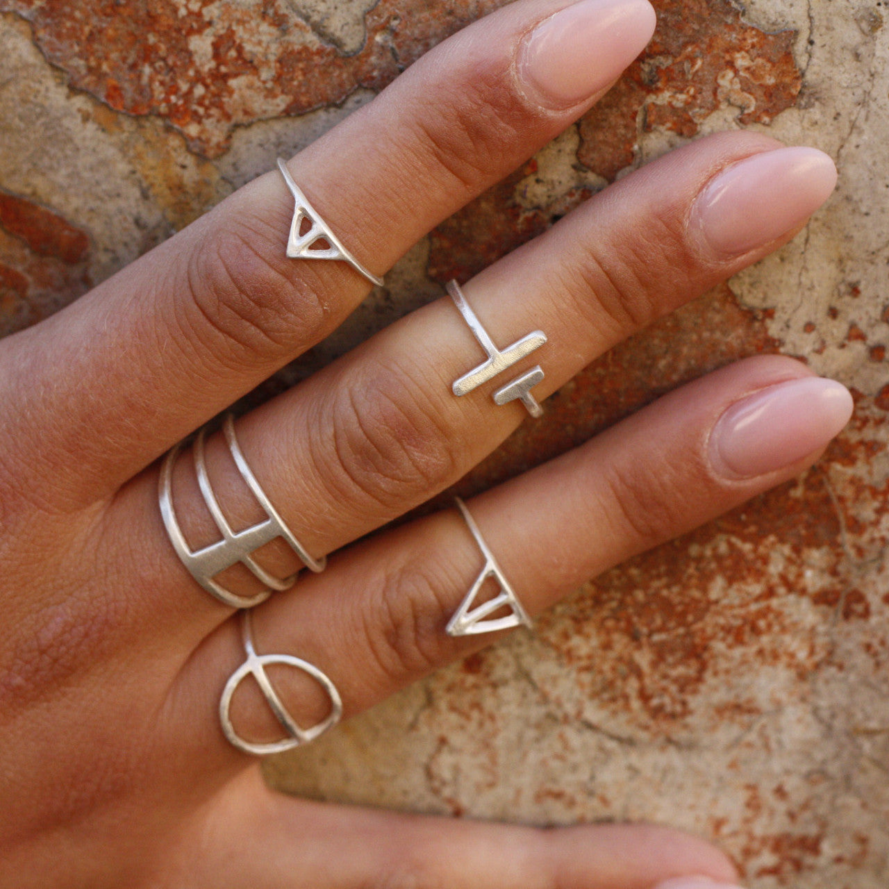 VIIVA Ring adjustable sterling silver  dark oxidized recycled silver delicate ring by Wild /& Arrow
