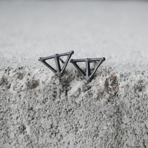 Taika Earrings Oxidized Silver