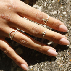 Taika + Tyyneys + Loop - Silver Stacking Ring Combination