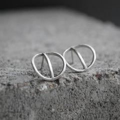 Tyyni Hoop Dangle Earring Silver Or Bronze