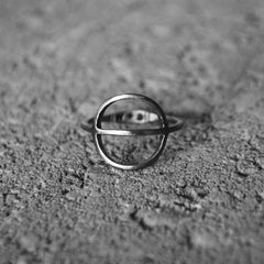 Tyyni Ring Oxidized Silver
