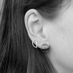 Tyyneys Earrings Oxidized Silver