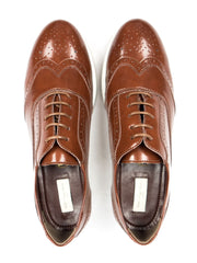 Flatform Brogues - Brown Women's Sizes