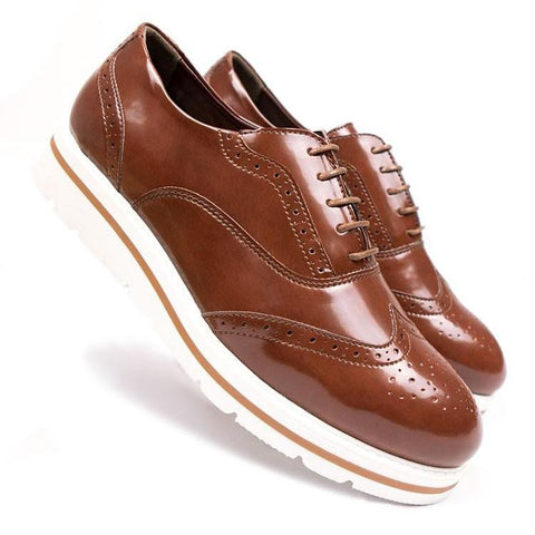 Flatform Brogues - Brown Women