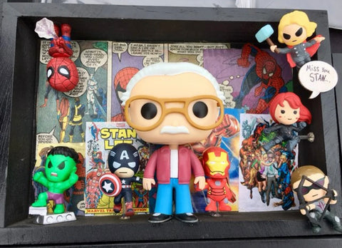 The Stan Lee Collage Shadow Box, A Bands For Arms Artwork Piece