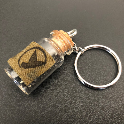 The Iwo Jima in a Bottle Keychain