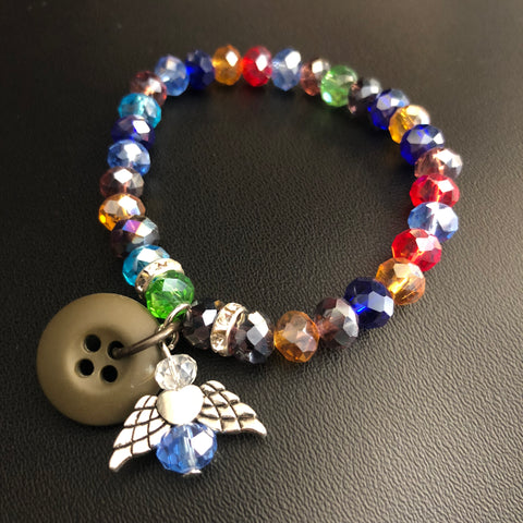 The Holiday Stained Glass Angel Bracelet