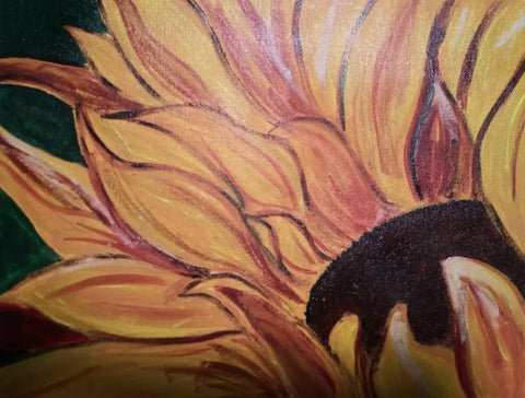 The Whispering Sunflower Painting, A Bands For Arms Artwork Piece