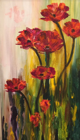 The Veteran's Red Poppy Painting, A Bands For Arms Artwork Piece