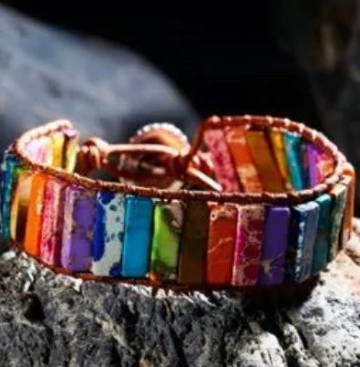 The Multi Stone Wrap Bracelet