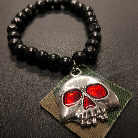 The Ruby Eyed Skull Bracelet